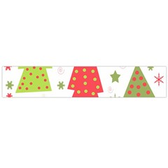 Christmas design - green and red Flano Scarf (Large)
