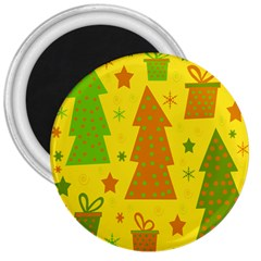 Christmas Design   Yellow 3  Magnets