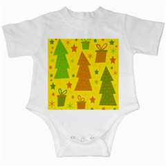 Christmas design - yellow Infant Creepers