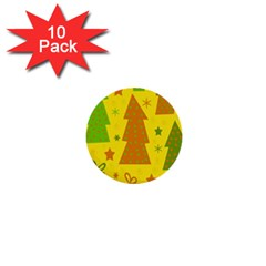 Christmas design - yellow 1  Mini Buttons (10 pack)