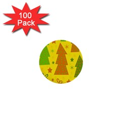 Christmas design - yellow 1  Mini Buttons (100 pack)