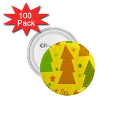 Christmas design - yellow 1.75  Buttons (100 pack)