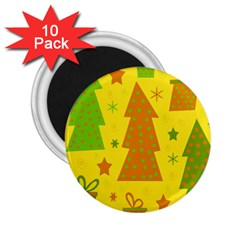 Christmas design - yellow 2.25  Magnets (10 pack)