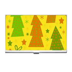 Christmas design - yellow Business Card Holders