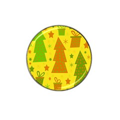 Christmas design - yellow Hat Clip Ball Marker (4 pack)