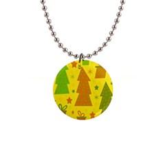 Christmas design - yellow Button Necklaces