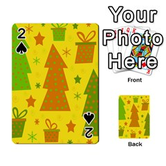 Christmas design - yellow Playing Cards 54 Designs