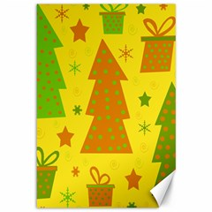 Christmas design - yellow Canvas 12  x 18