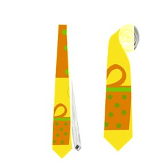 Christmas design - yellow Neckties (Two Side)