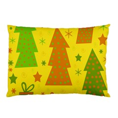 Christmas design - yellow Pillow Case