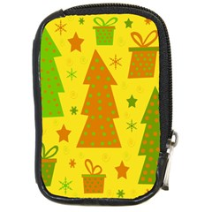 Christmas design - yellow Compact Camera Cases