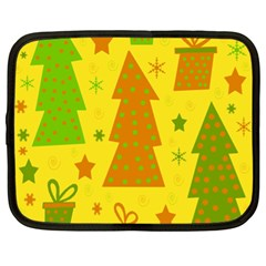 Christmas design - yellow Netbook Case (XL)
