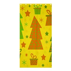 Christmas design - yellow Shower Curtain 36  x 72  (Stall)