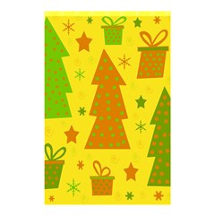 Christmas design - yellow Shower Curtain 48  x 72  (Small)
