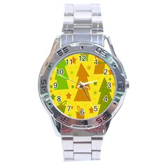 Christmas design - yellow Stainless Steel Analogue Watch