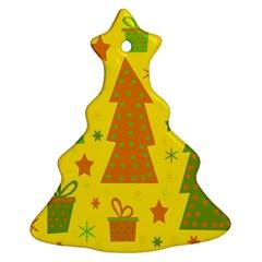 Christmas design - yellow Ornament (Christmas Tree)
