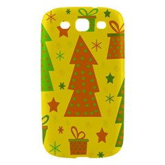 Christmas design - yellow Samsung Galaxy S III Hardshell Case