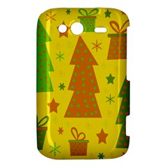 Christmas design - yellow HTC Wildfire S A510e Hardshell Case