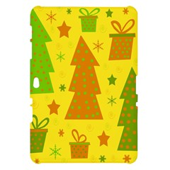 Christmas design - yellow Samsung Galaxy Tab 10.1  P7500 Hardshell Case