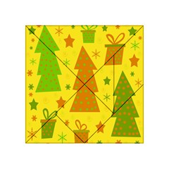 Christmas design - yellow Acrylic Tangram Puzzle (4  x 4 )
