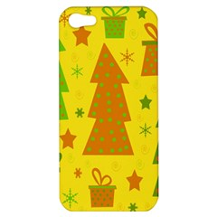 Christmas design - yellow Apple iPhone 5 Hardshell Case