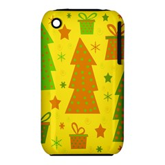 Christmas design - yellow Apple iPhone 3G/3GS Hardshell Case (PC+Silicone)
