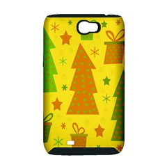 Christmas design - yellow Samsung Galaxy Note 2 Hardshell Case (PC+Silicone)
