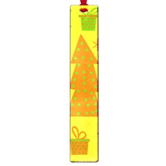 Christmas design - yellow Large Book Marks