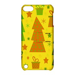 Christmas design - yellow Apple iPod Touch 5 Hardshell Case with Stand
