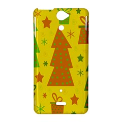 Christmas design - yellow Sony Xperia V