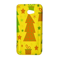 Christmas design - yellow HTC Butterfly S/HTC 9060 Hardshell Case