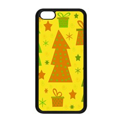 Christmas design - yellow Apple iPhone 5C Seamless Case (Black)