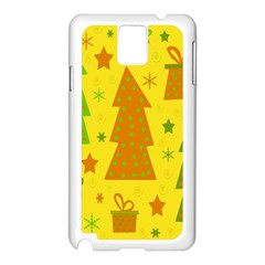 Christmas design - yellow Samsung Galaxy Note 3 N9005 Case (White)