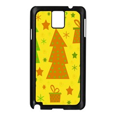Christmas design - yellow Samsung Galaxy Note 3 N9005 Case (Black)