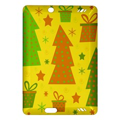 Christmas design - yellow Amazon Kindle Fire HD (2013) Hardshell Case