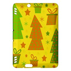 Christmas design - yellow Kindle Fire HDX Hardshell Case