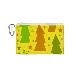 Christmas design - yellow Canvas Cosmetic Bag (S)