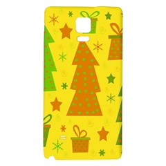 Christmas design - yellow Galaxy Note 4 Back Case