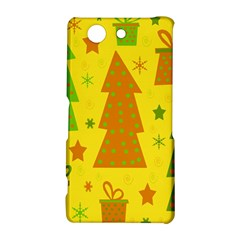Christmas design - yellow Sony Xperia Z3 Compact