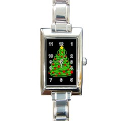 Christmas tree Rectangle Italian Charm Watch