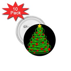 Christmas tree 1.75  Buttons (10 pack)