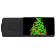 Christmas tree USB Flash Drive Rectangular (1 GB)