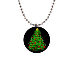 Christmas tree Button Necklaces
