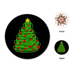 Christmas tree Playing Cards (Round)