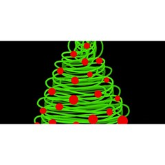 Christmas tree YOU ARE INVITED 3D Greeting Card (8x4)