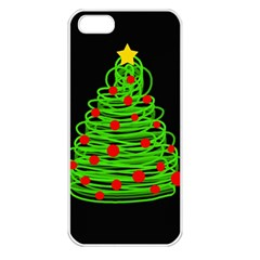 Christmas tree Apple iPhone 5 Seamless Case (White)