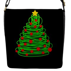 Christmas tree Flap Messenger Bag (S)