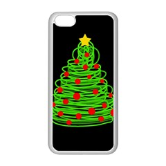Christmas tree Apple iPhone 5C Seamless Case (White)