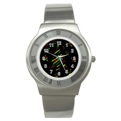 Abstract Christmas tree Stainless Steel Watch