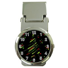 Abstract Christmas tree Money Clip Watches